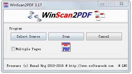 WinScan2PDF(PDF文档转换工具) V3.17 多国语言绿色版