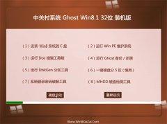 中关村Win8.1 大神装机版 2021(32位)